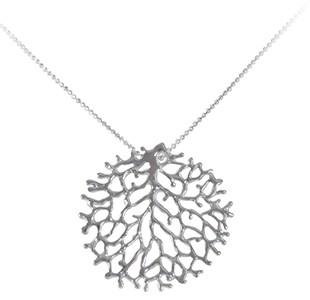 FAN OF THE SEA medium pendant, chain, silver