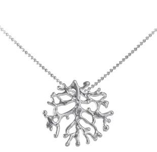FAN OF THE SEA small pendant, chain, silver