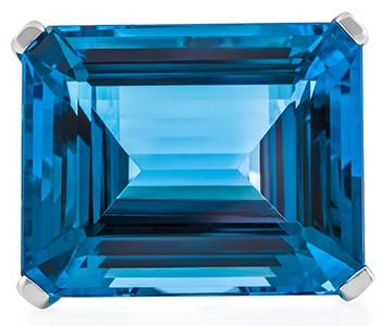 Big Blue, front, blue topaz