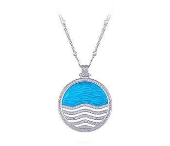 Sea Breeze, blue topaz, diamonds